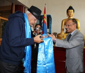 Minister for New and Renewable Energy, Dr Farooq Abdullah visiting Pethub Monastery at Ulaanbaatar, Mongolia-14 - Copy