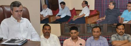 Chief Minister, Omar Abdullah meeting with Members of Chambers of Commerce from Kashmir and Jammu divisions at Jammu-12