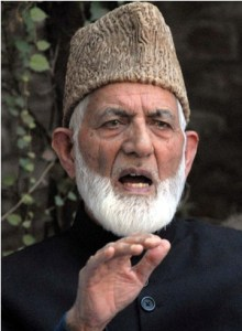 Chairman   of All Parties Hurriyat  Conference  (G) Syed Ali shah  Geelani  addressing a press conference in srinagar on wednesday.