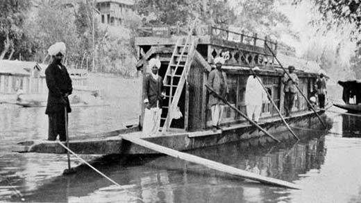 Patients being  brought  to hospital in house boat made ambulance in this file pic of nineteenth century.