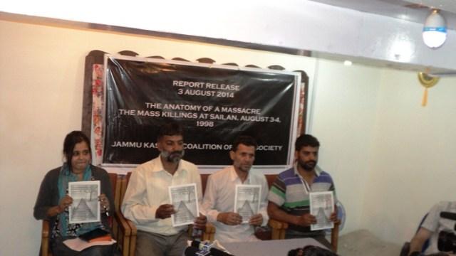 The survivors: (R-L) Latif Ahmad (2), Abdul Ahad (3), Shabir Ahmad (4) Pic: Bilal Bahadur