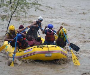 Flood Rescue Team in South Kashmir's Kugam District