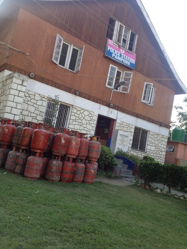 Among many things Police station Pampore managed to secure part of 45,000 gas cylinders that got washed away by the flood water from HP Gas Plant.