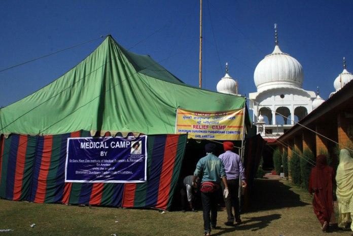 Relief camp inside GBSS.