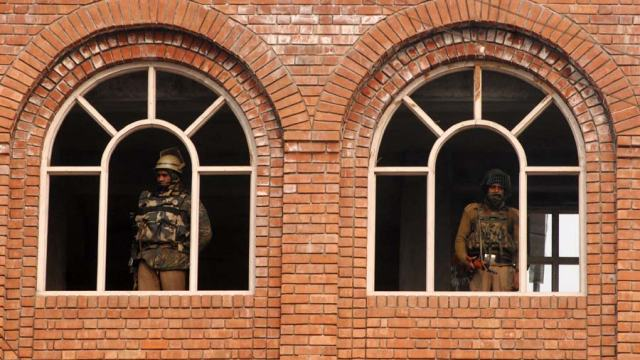 Security personnel have taken positions