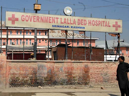 An outside view of  valley's lone maternity hospital  - Lalla Ded Hospital. Pic: Bilal Bahadur