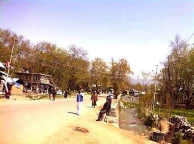 A view of Sagam village in South Kashmir.