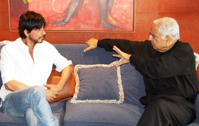 Mufti in talks with Bollywood actor Shahrukh Khan in Mumbai.