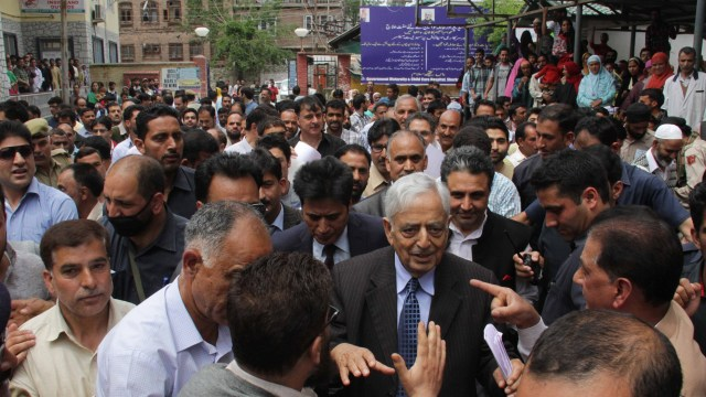 Chief Minister Mufti Muhammad Sayeed on his visit to his constituency.