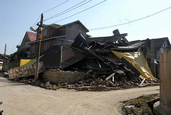 Collapsed house during 2014 September deluge.