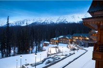 The Khyber Himalayan Resort & Spa, Gulmarg AT DUSK.