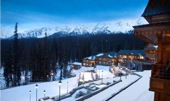 The Khyber Himalayan Resort & Spa, Gulmarg AT DUSK.
