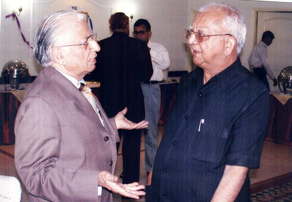 Ved Bhasin with Balraj Puri.