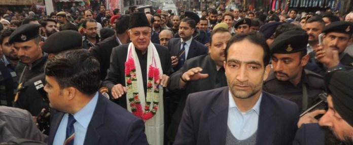 Dr Farooq Abdullah at Kanak Mandi.