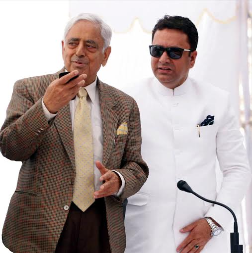 Author with former CM Mufti Mohammad Sayeed.