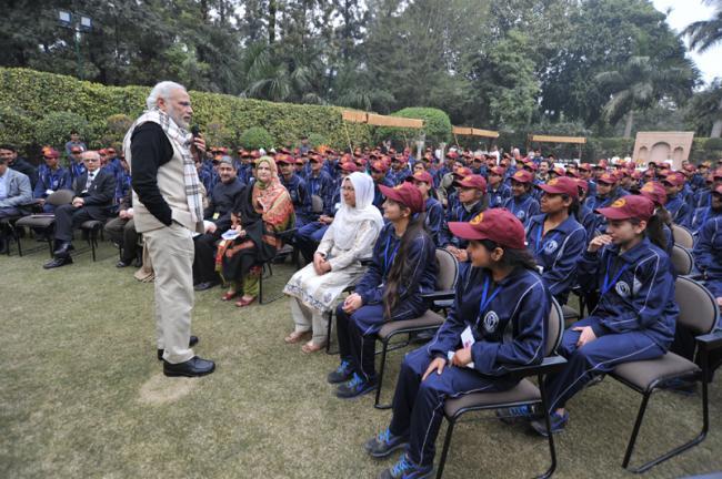 PM Modi with J&K Youth