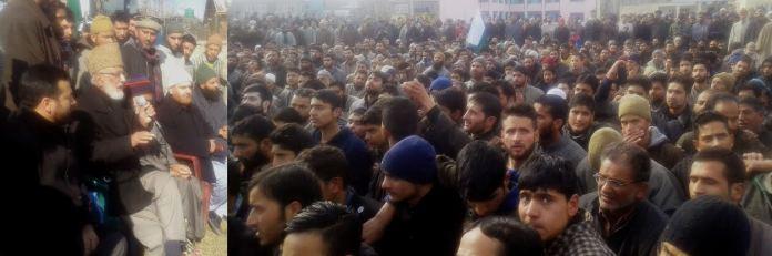 Sehrai addressing people at Nagam.