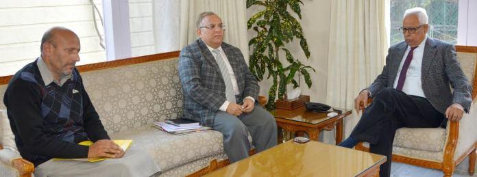 ER Rasheed with Governor N N Vohra