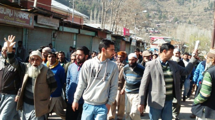 People in Uri protesting against NFSA.