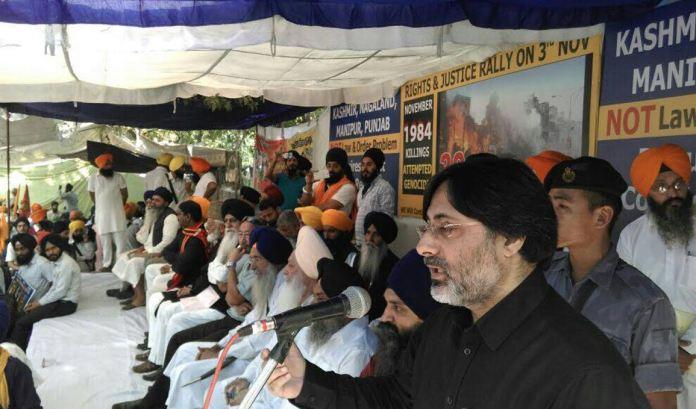 File Photo: Prof SAR Geelani addressing a Conference organized by Dal Khalsa at Jantar Mantar, Delhi in November last year.