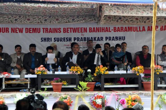 New Two Trains were inaugurated on May 05, 2016 by CM Mehbooba Mufti at Islamabad. (KL Image: Shah Hilal)