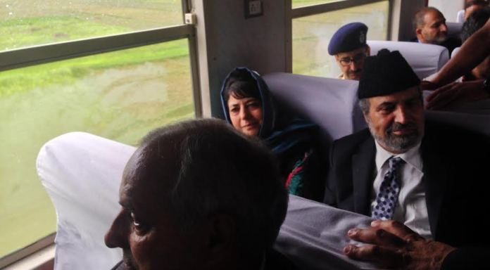 Four New Trains were inaugurated on May 05, 2016 by CM Mehbooba Mufti at Islamabad. (KL Image by Special arrangement)