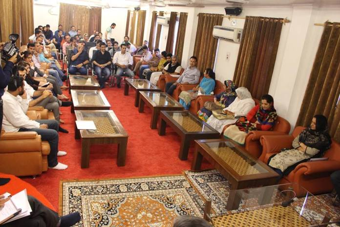 CM-Entrepreneur Meet on May 16, 2016 @ Gupkar Srinagar