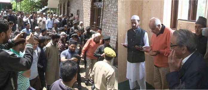 Dr Farooq Abdullah at Nihalpora Pattan on May 05, 2016