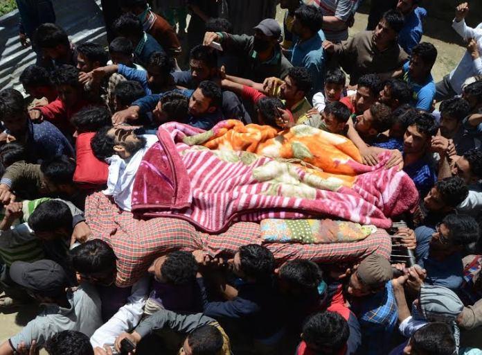 Farooq Ahmad Sheikh Funeral on May 17, 2016 photo by Bilal Bahadur 4