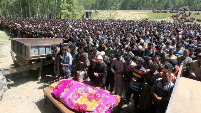 A funeral of a slain militant in this file KL Image.