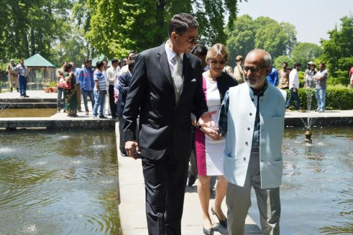 German Ambassador in Srinagar on May 02, 2016 where he inagurated restored Dewaan-i-Khaas