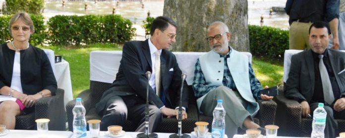 German Ambassador in Srinagar on May 02, 2016