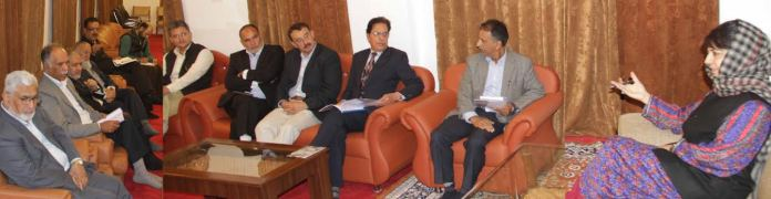 KCCI in a meet with CM Mehbooba on May 04, 2016