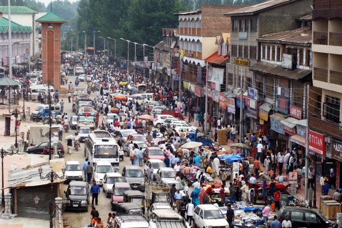 The ever busy Lal Chowk. Don't punish Auto Rickshaws, counsel them! (KL file Image: Bilal Bahadur)