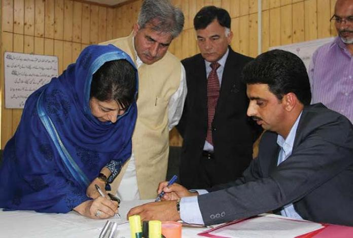 Ms-Mehbooba-Mufti-filing-her-nomination-papers-from-Islamabad-on-June-Ist-2016