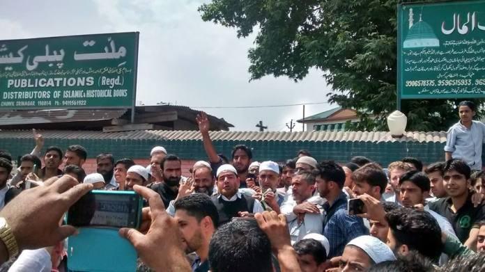 Protests against Sainik, Pandit Colonies on June 3rd 2016 at Hderpora