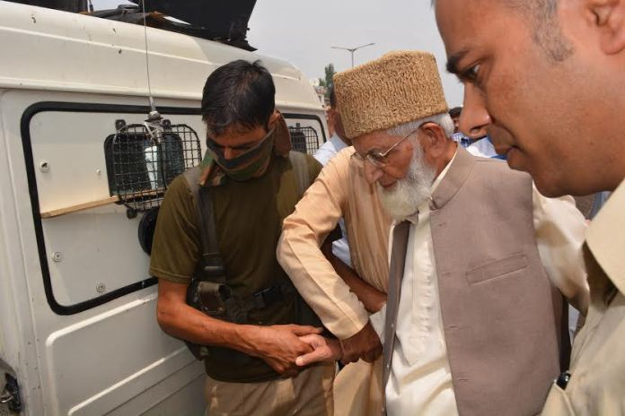 Hurriyat patriarch Syed Ali Geelani was arrested when he tried to march towards Islamabad.