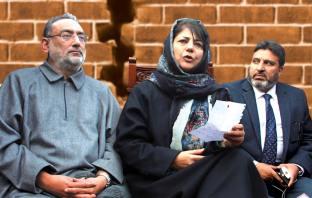 Haseeb Drabu, Mehbooba Mufti, Altaf Bukhari