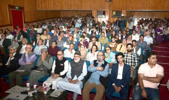 A large gathering at the first death anniversary of Shujaat bukhari