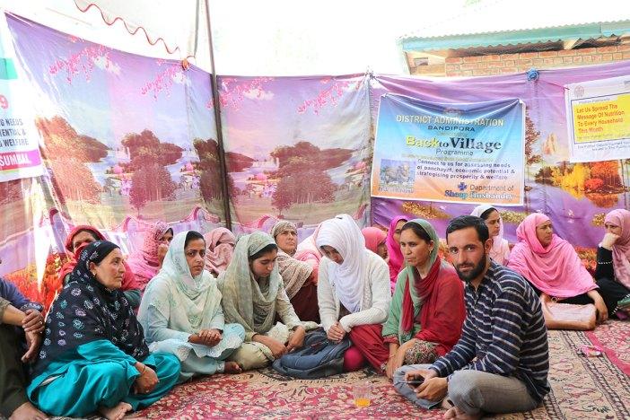Members of self-help group at Back to Village, Nesbal, Sumbal.