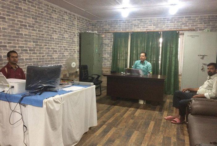 (L to R) Mohammad Ashraf Mir and Altaf Hussain Shah at DDC , Baramulla