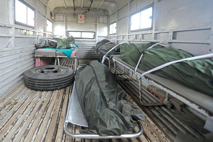 Dead bodies of the 5 deceased. KL Image by Bilal Bahadur