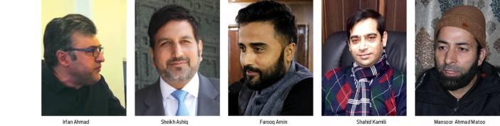 KL-Irfan Ahmad, Sheikh Ashiq, Farooq Amin, Shahid Kamili, Mansoor Ahmad Matoo