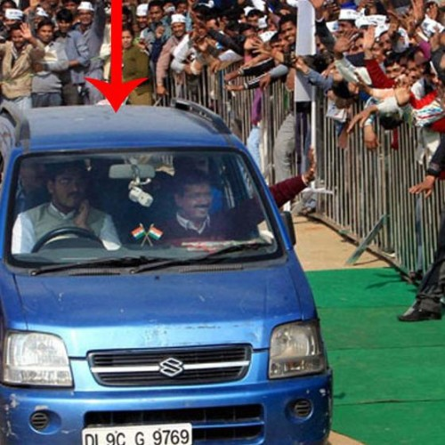 Kejriwal's blue Wagon R auto  recovered from Ghaziabad