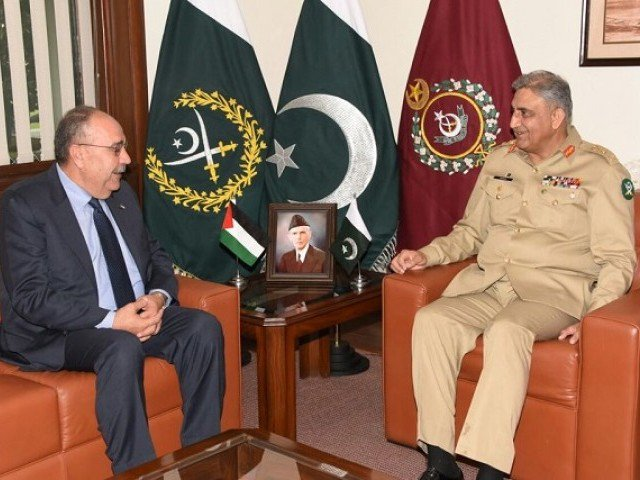 Pak Army chief meets Palestine envoy; assures support