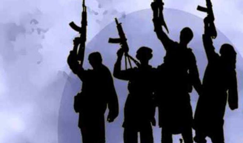 Militants Offer Gun Salute To Fallen Comrade
