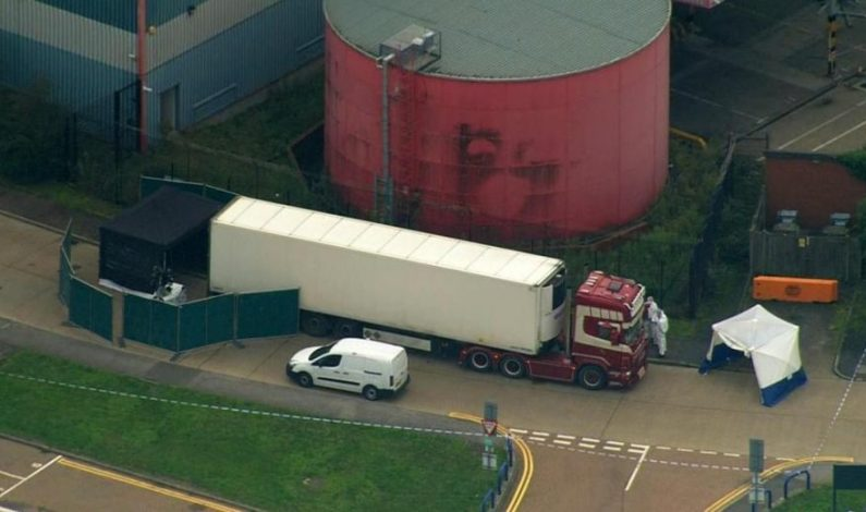 39 Found Dead In Truck Container Near London, Driver Arrested