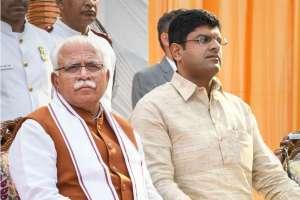 Khattar Takes Oath As Haryana CM, Dushyant As Deputy CM