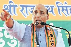 Cong Internationalising Kashmir Issue: Rajnath