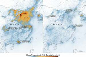 Virus Fears Bring Down Pollution Levels In China